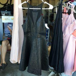 Back gator print dress